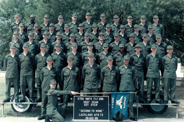 1986 Basic Training - 4th Row, 4th From Left