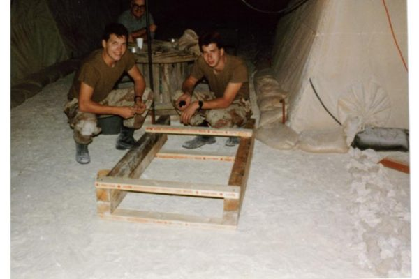 1990 - David and Eric - Building Bunk Beds